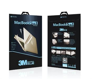 """Защитная пленка для MacBook Air 13' Retina 2018 new Mocoll 5 в 1, (серия """"Black Diamond""""), Gray"""